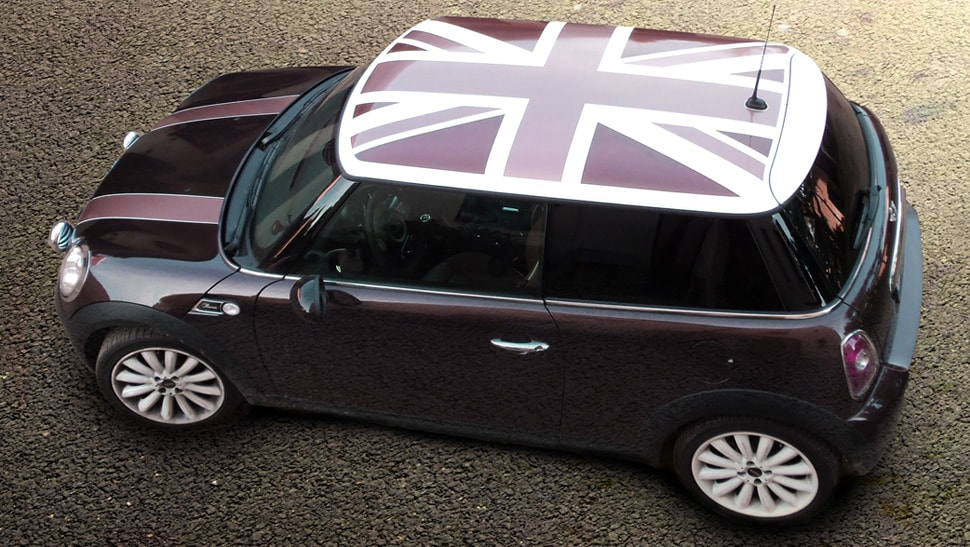 Teilfolierung Mini Cooper British Flag